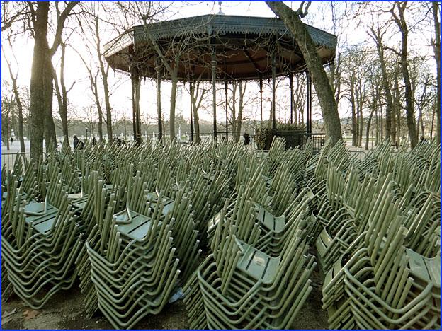 jardin du luxembourg en hiver paris