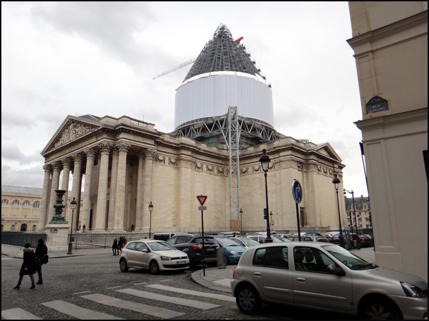 pantheon en travaux