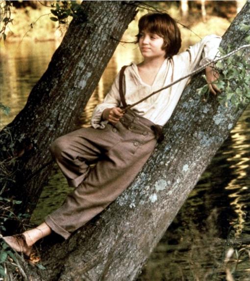 Elijah Wood dans Huckleberry Finn