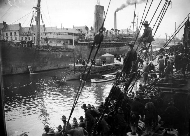 premier navire americain st nazaire 1917 senat expo 14-18 excelsior