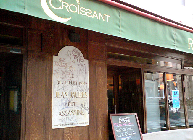 jaures assassine paris cafe le croissant