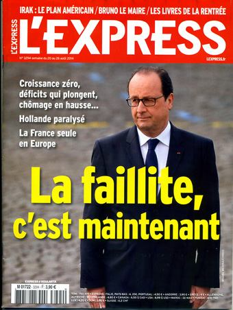 2014 08 lExpress la faillite c est maintenant