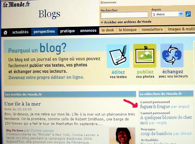 fugues et fougue blog sélection du monde fr 2005