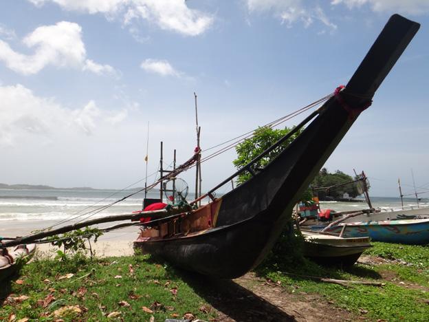 mirissa bateau a balancier sri lanka