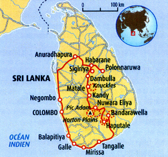 sri lanka carte