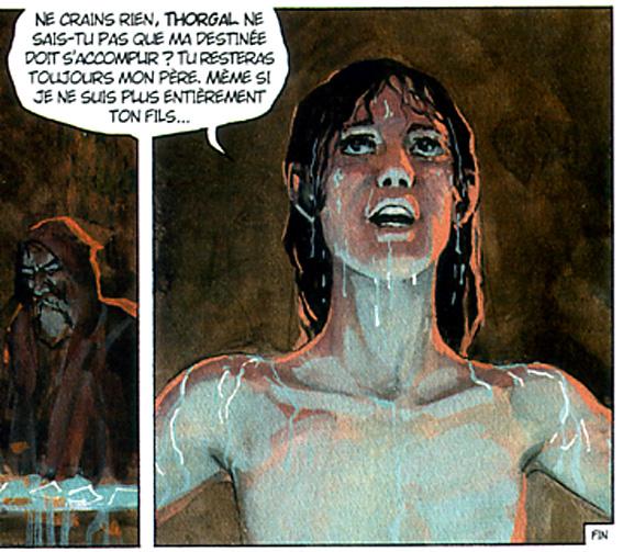 Thorgal 34 aniel jeune homme nu