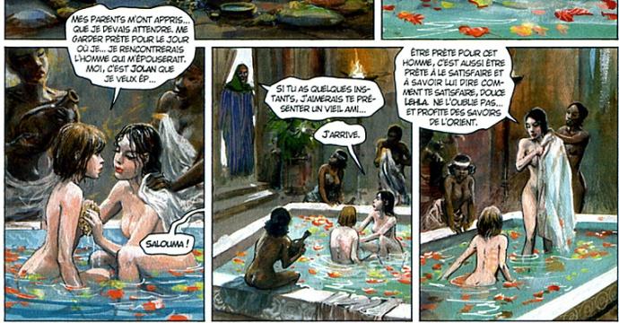 Thorgal 34 lehla nue au bain