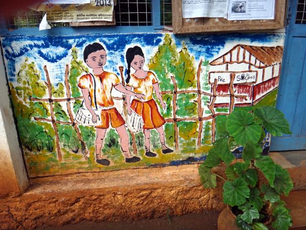 fresque sur ecole sri lanka