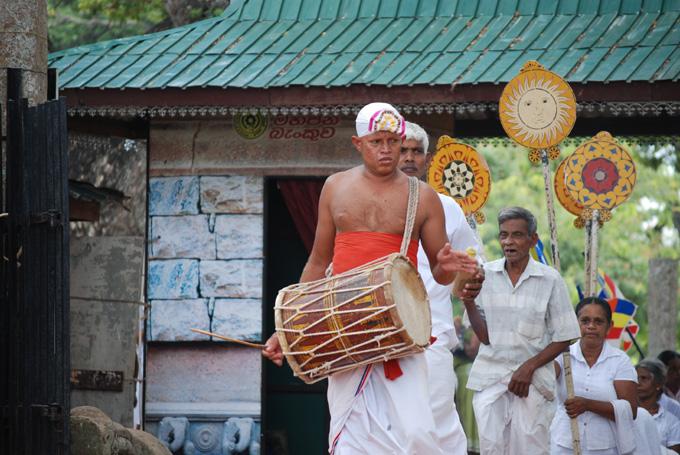 procession Anuradhapura sri lanka