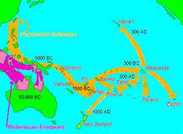 carte migrations polynesiennes