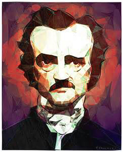 edgar allan poe portrait dessine