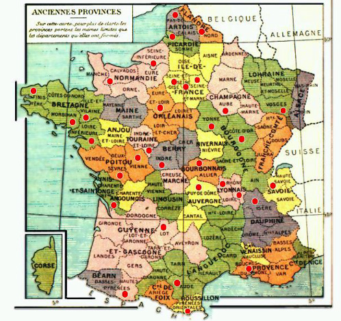 France carte des anciennes provinces