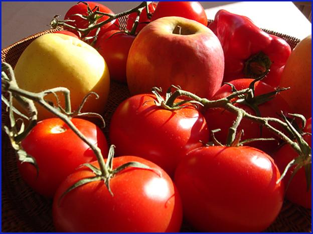 pommes tomates poivron