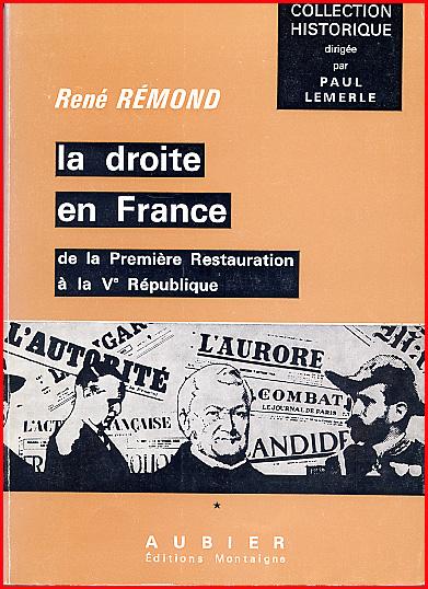 René Rémond La droite en France