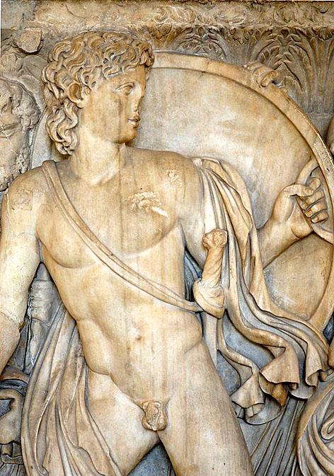 Achilles chez Lycomedes sarcophage athenien v240 Louvre