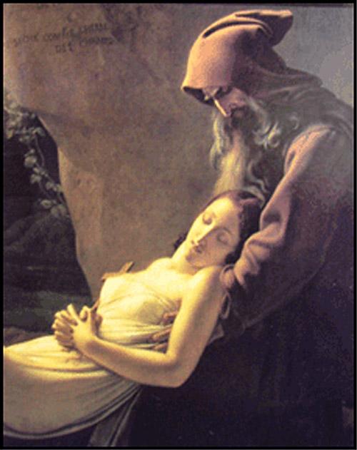 moine et fille