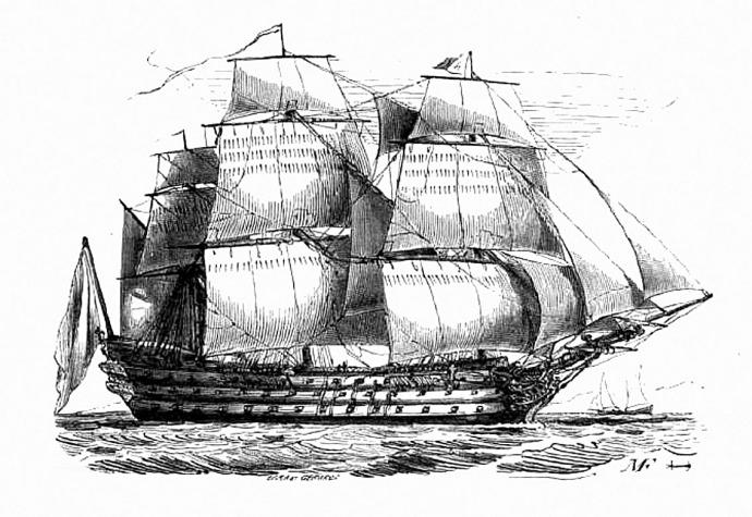 navire trois ponts france 18e