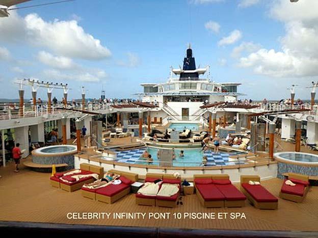 bateau celebrity infinity pont 10 piscine et spa