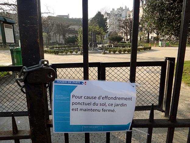Paris square viviani effondre fevriver 2015