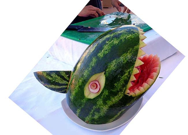 sculpture de fruit b