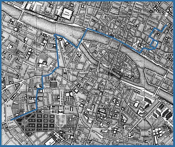 1759 paris carte des lieux de nicolas le floch