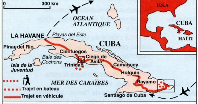 Cuba carte notre circuit