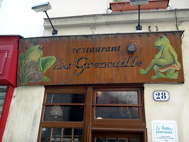 paris roger la grenouille enseigne