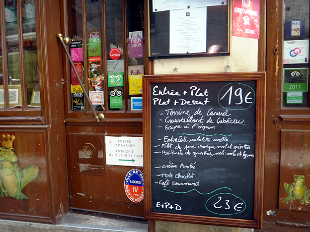 paris roger la grenouille menu fevrier 2015