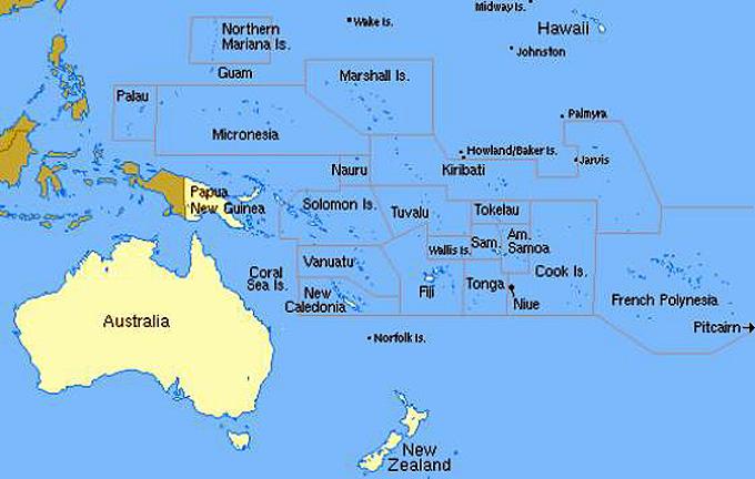 archipel de palau carte
