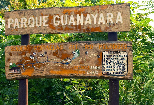 parc guanayara cuba pancarte
