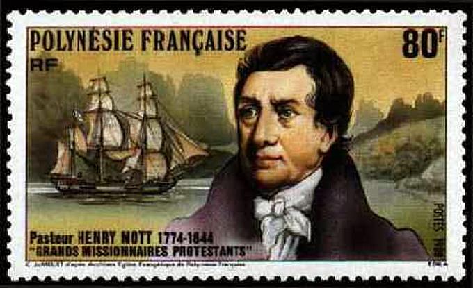 pasteur Henry Nott timbre