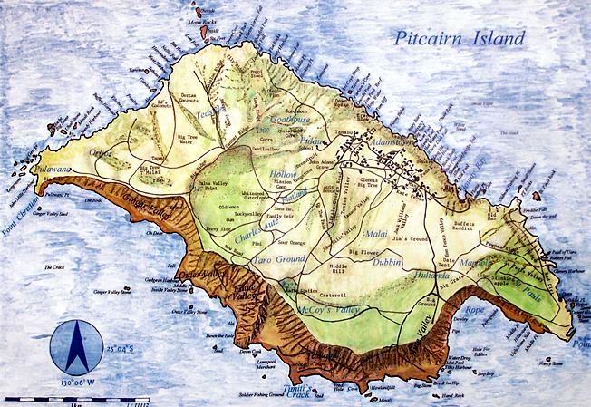 Pitcairn carte