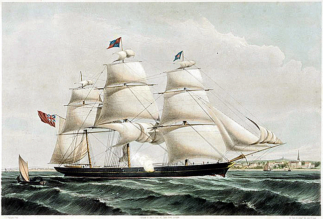 spray of the ocean 1854