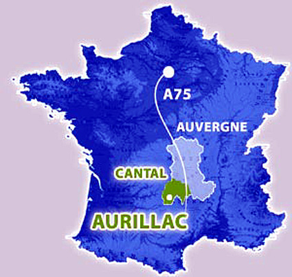 aurillac carte de situation