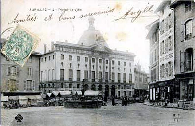 aurillac carte postale 1900