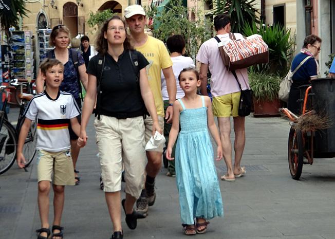 corniglia touristes