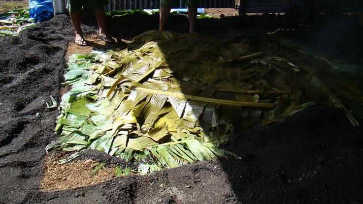 ouverture du four tahitien