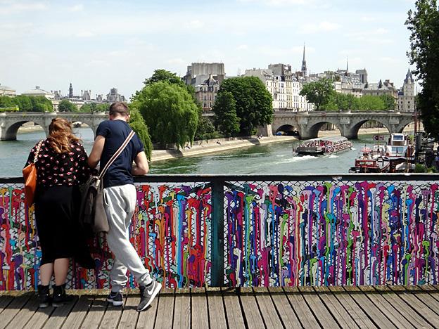 paris pont des arts 2015 art hidalgo
