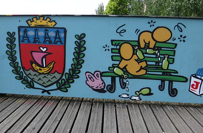 paris pont des arts 2015 paris poubelle socialiste 2
