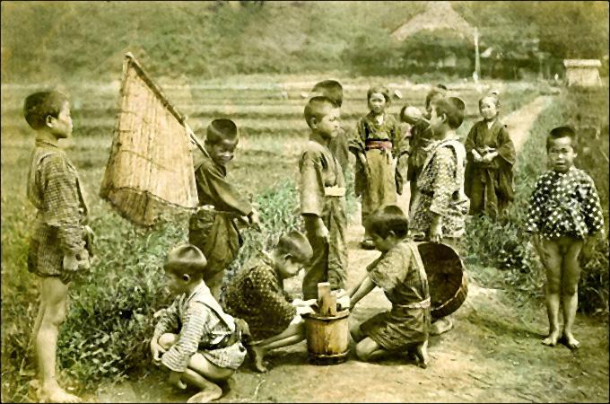 1910 japon enfants