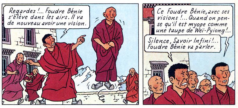 bouddhisme Tintin au Tibet 1960
