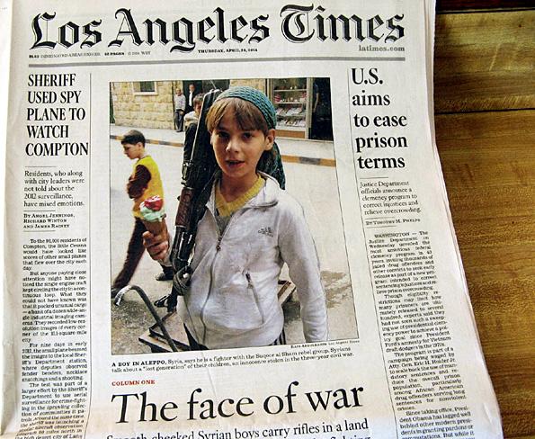 enfant soldat syrie los angeles times