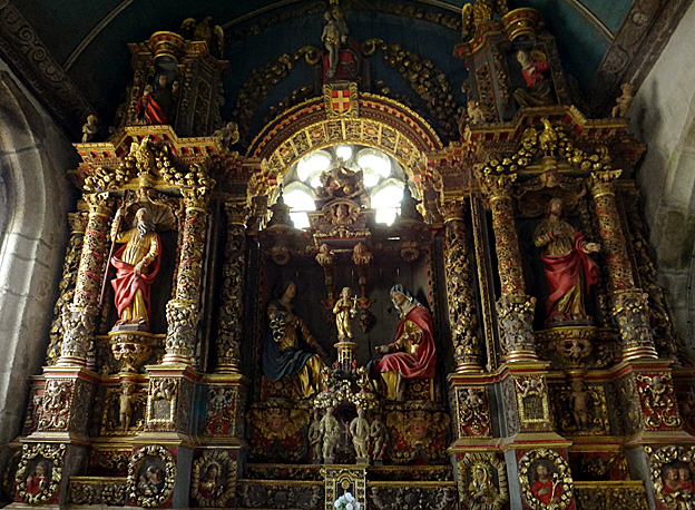 retable ste anne eglise commana