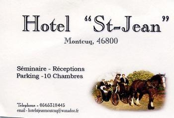 montcuq hotel saint jean