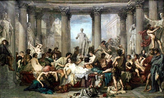 Romains de la décadence Thomas Couture