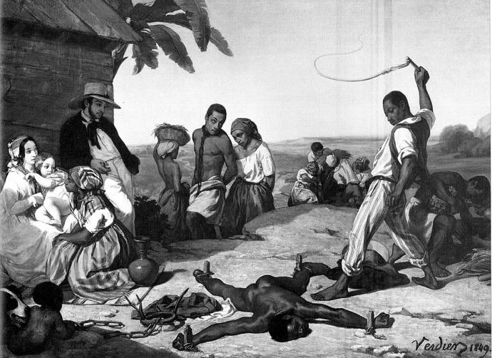 esclave noir fouette