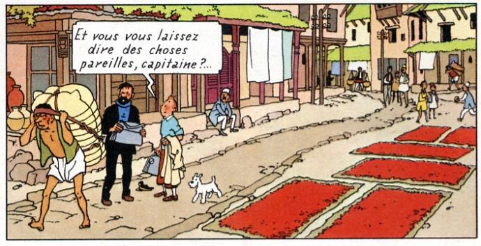 kathmandou Tintin au Tibet 1960