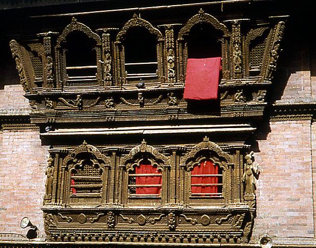 katmandou nepal fenetre de la kumari