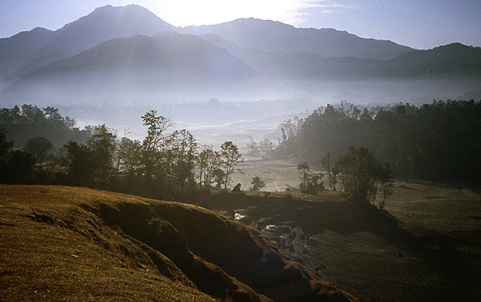 nepal effets de brume