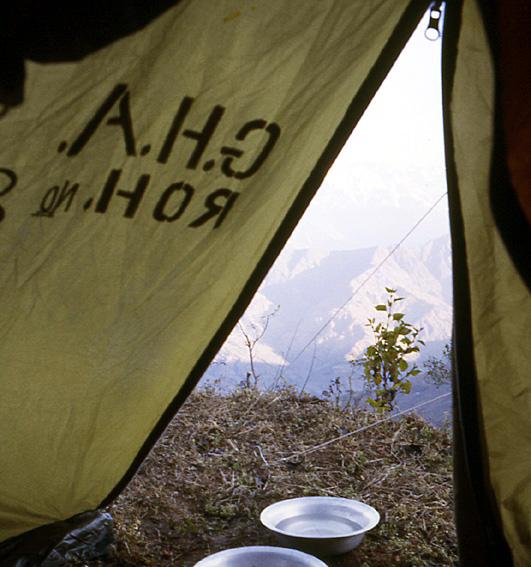 nepal reveil sous la tente